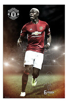 Paul Pogba Manchester United 2016 / 2017 Poster New - Maxi Size 36 x 24 Inch