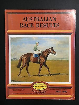 Horse Racing Book Australian Race Results May 1986, Anchor Cover