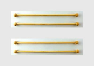 Dolls House 4 Wooden Curtain Rails Rods Poles Miniature 1:12 Scale Accessory