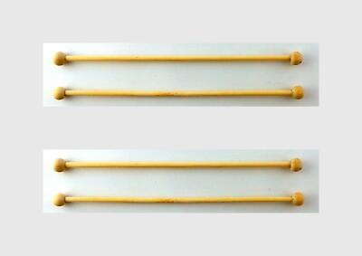 Melody Jane Dolls Houses 4 Wooden Curtain Rails Rods Poles Accessory 1:12