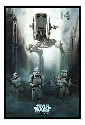 Framed Star Wars Rogue One Stormtrooper Patrol Poster New