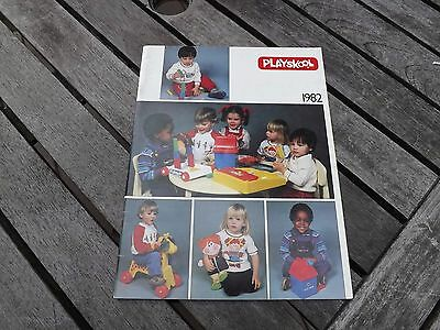 1982 PLAYSKOOL Fair Catalog 38 Pages Ride Ons, Lincoln Logs, Puzzles, Etc