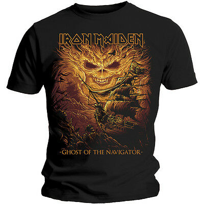 Iron Maiden T Shirt Ghost Of The Navigator Official Mens Black Legacy Beast NEW