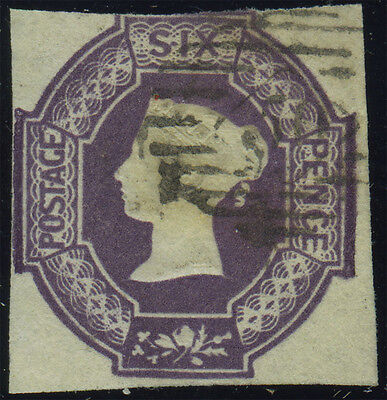SG 59 6d dull lilac, fine used example with clear to lightly touched margins all