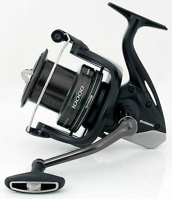 Shimano NEW Carp Fishing Aerlex 10000 XTB Black Reel + Sufix Synergy Line 12lb