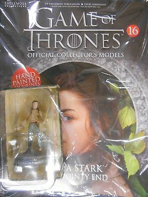 """Game Of Thrones Collector's Models #16 """"arya Stark (The Pointy End)"""" (Eaglemoss)"""