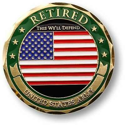 NEW U.S. Army Retired Adhesive Medallion. 61055.
