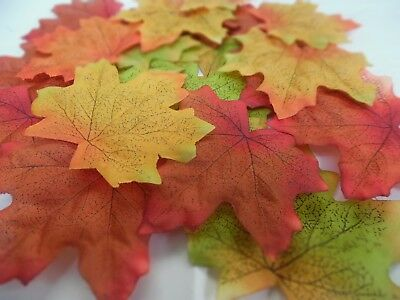 100 Quality Mixed Silk Autumn/maple Leaf Uk Seller  Wedding/crafts Decor/costume