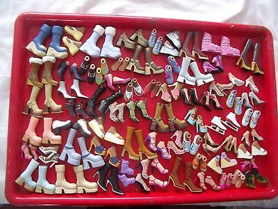 Huge Bratz Girl Dolls Shoes And Boots - Over 50 Different Pairs - Bundle - Lots