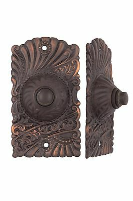 Roanoke Push Button Electric Doorbell Antique Copper or Brass