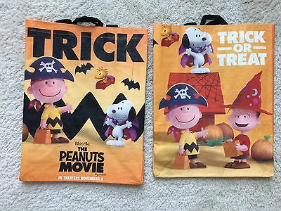 2 new trick or treat halloween peanuts movie bags snoopy will not relist