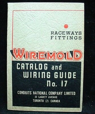 Vintage Guide Book WIREMOLD CATALOG & WIRING GUIDE Electrical Fittings 1947