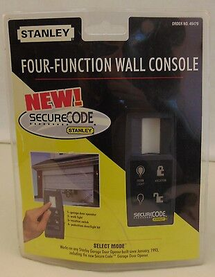 Stanley Secure Code 4/four Function Wall Console Garage Door Control 49487