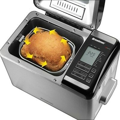 Breadman Chrome Ultimate Plus Programmable Convection Bread-maker 2 Pounds