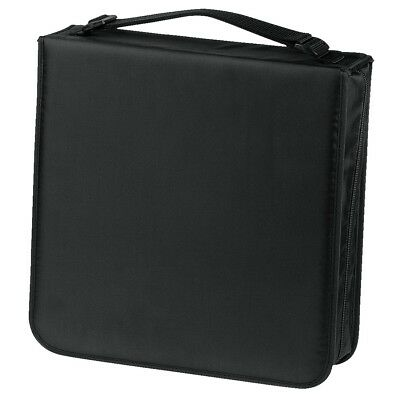 Hama 208 CD / DVD / Bluray Wallet Storage Carry Case Handle Nylon Black