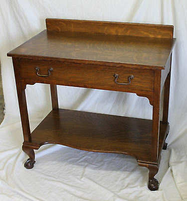 Antique Oak Server – with claw and ball feet -