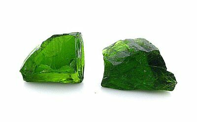 4.72 Gram Two Natural Russian Chrome Diopside Gemstone Gem Facet Rough EBS1157