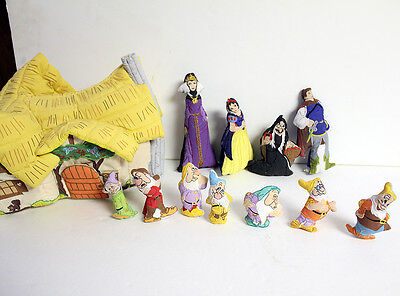 Pockets Of Learning vintage Disney Snow White Playset FINGER PUPPET Doll NOS SET