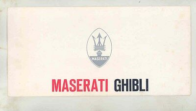 1970 ? Maserati Ghibli Brochure Italian German English French ww2901
