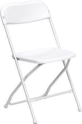 Lot of 12 6ft Bi-Fold Tables + 240 White Steel Frame Folding Chairs