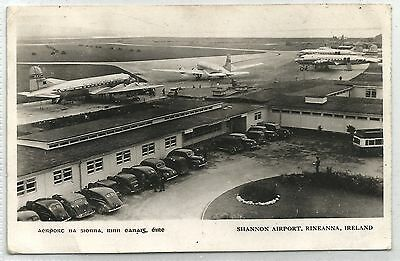 irish postcard ireland clare shannon airport aviation