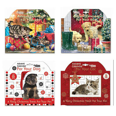 Pets Christmas Advent Calendar with Kitty and Doggy Tasty Treats - Dog or Cat