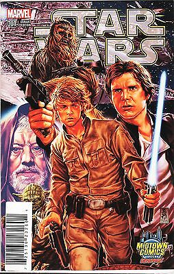 Star Wars No.1 / 2015 Midtown Comics NYC Mark Brooks Variant Cover Edition