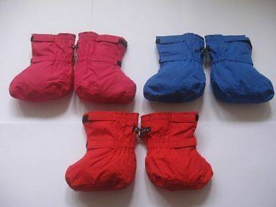 TOGZ WATERPROOF UNLINED OVER BOOTIES - BLUE PINK OR RED 0-2 yrs