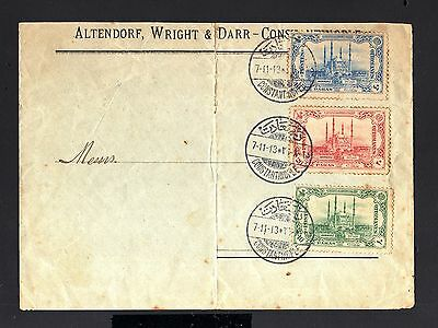 13070-TURKEY-OLD OTTOMAN COVER CONSTANTINOPLE.1913.WWI.Turquie.Enveloppe.brief.