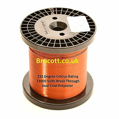 0.315mm - ENAMELLED COPPER WINDING WIRE, MAGNET WIRE, COIL WIRE - 750 Gram Spool