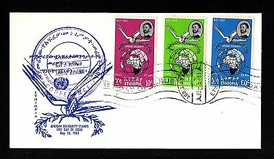 13090-ETHIOPIA-FIRST DAY COVER ADDIS ABABA.1963.FDC.Ethiopie.african solidarity.