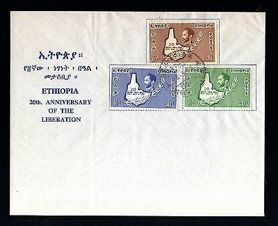 13068-ETHIOPIA-FIRST DAY COVER ADDIS ABABA.1961.FDC.Ethiopie.Anniversary liberat