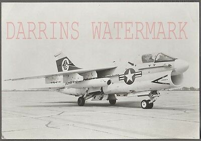 Vintage Photo US Air Force Jet Fighter Airplane w/ Pirate Art 706398