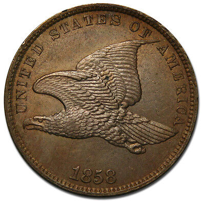 1858 Small Letters Flying Eagle Cent Coin Lot# MZ 2054