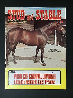 Stud & Stable Race Horse Magazine January 1976