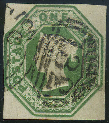 "SG 55 1/- green, very fine used example with  neat ""132"" (Brighton) duplex cance"