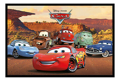 Framed Disney Pixar Cars Characters Film Movie Poster New