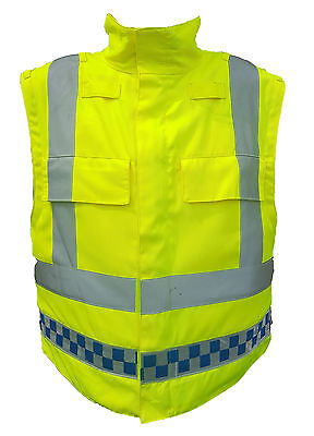 Ex Police Hi Vis Meggitt Body Armour Cover Security Tactical Vest !COVER ONLY!