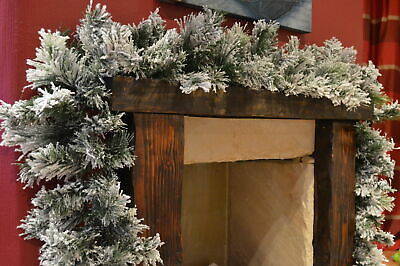 Super Thick Deluxe 270cm (9ft) Snowy Flocked Vancouver Pine Christmas Garland