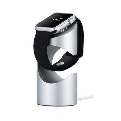 Just Mobile TimeStand - Charging Stand für Apple Watch - Silber