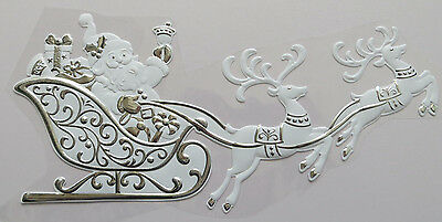 White Reindeer Castle Window Christmas & Winter Stickers - Reusable Decorations