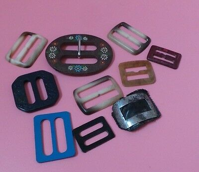 10 Vintage BUCKLES Various Sizes And Designs