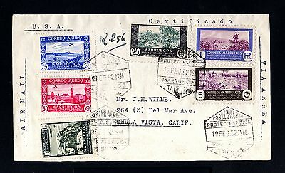 13034-SPANISH MOROCCO-SPAIN-AIRMAIL REGISTERD COVER TANGER to USA.1952.Marruecos