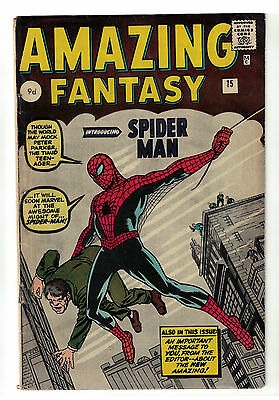 Marvel COMIC AMAZING FANTASY ISSUE #15  SPIDERMAN spider-man 4.5 1st appearance
