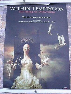 WITHIN TEMPTATION Heart Of Everything 2007 double sided poster 24 x 16  original
