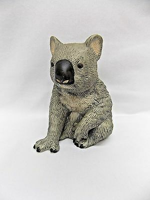 Sitting Grey Koala Porcelain Figurine  4 1/2 In Tall & 4 in Wide Royal Heritage
