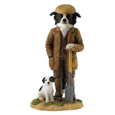 Border Fine Arts Old Bob and Friends Out Digging Border Collie Figurine A27071