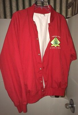 Hardly used... Boy Scouts Red Jacket (LARGE), Occoneechee Council