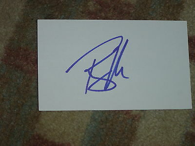 Ryan Moore Signed 3x5 index Card