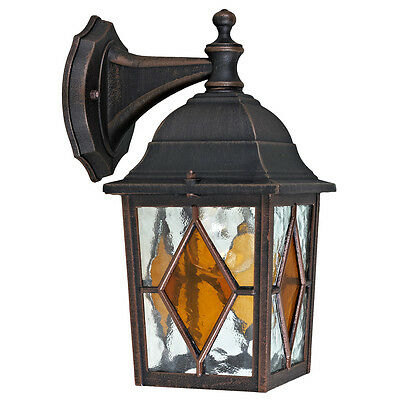 Charles Bentley Outdoor Garden Black Traditional Lantern Wall Security Light